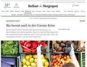 Bio boomt auch in der Corona-Krise